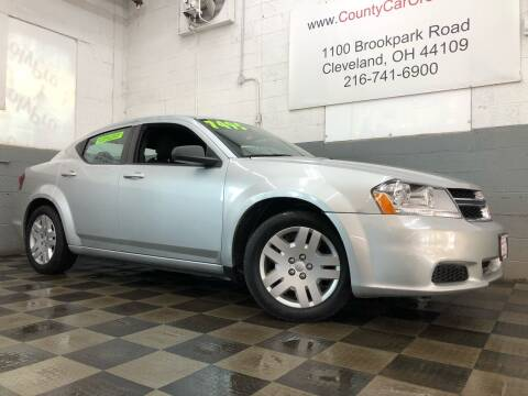 2012 Dodge Avenger for sale at County Car Credit in Cleveland OH