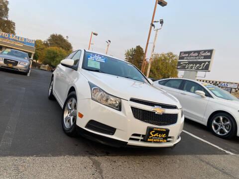 2013 Chevrolet Cruze for sale at Save Auto Sales in Sacramento CA