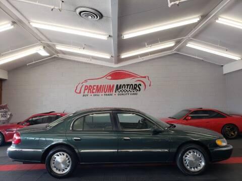 1998 Lincoln Continental for sale at Premium Motors in Villa Park IL