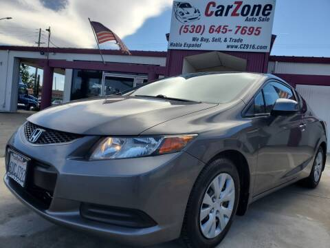 2012 Honda Civic for sale at CarZone in Marysville CA