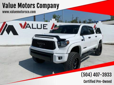 2021 Toyota Tundra for sale at Value Motors Company in Marrero LA