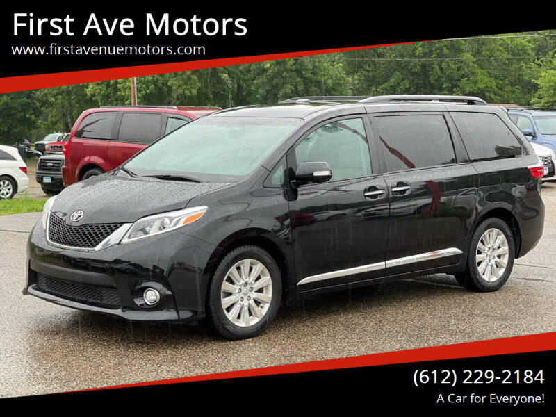 2015 Toyota Sienna for sale at First Ave Motors in Shakopee MN