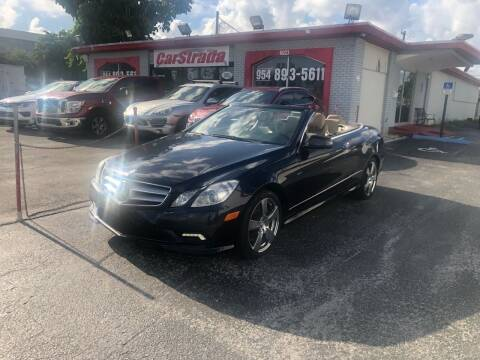 2011 Mercedes-Benz E-Class for sale at CARSTRADA in Hollywood FL