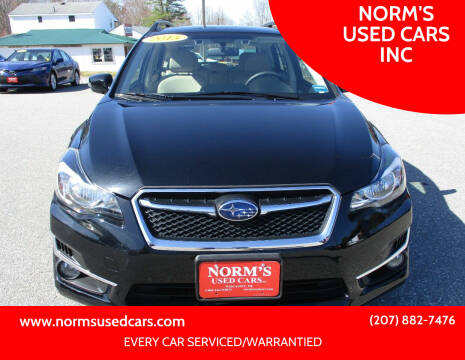 2015 Subaru Impreza for sale at NORM'S USED CARS INC in Wiscasset ME
