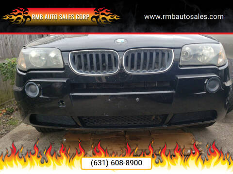 2005 BMW X3 for sale at RMB Auto Sales Corp in Copiague NY
