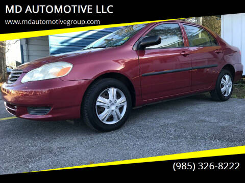2004 Toyota Corolla for sale at MD AUTOMOTIVE LLC in Slidell LA