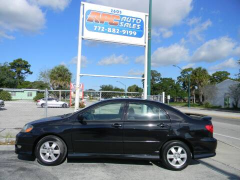 2006 Toyota Corolla for sale at APC Auto Sales in Fort Pierce FL