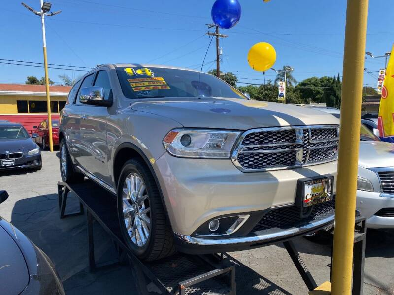 2014 Dodge Durango for sale at Crown Auto Inc in South Gate CA