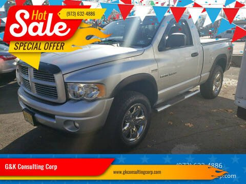 2004 Dodge Ram Pickup 1500 for sale at G&K Consulting Corp in Fair Lawn NJ