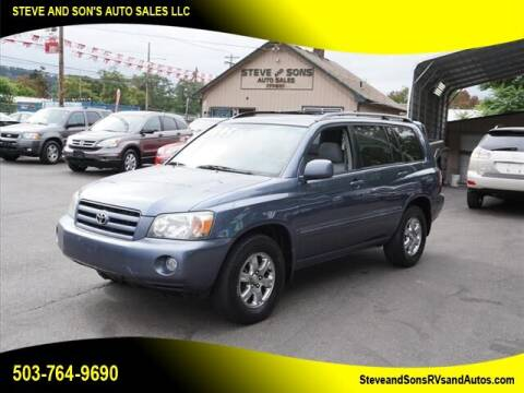 2007 Toyota Highlander for sale at Steve & Sons Auto Sales in Happy Valley OR