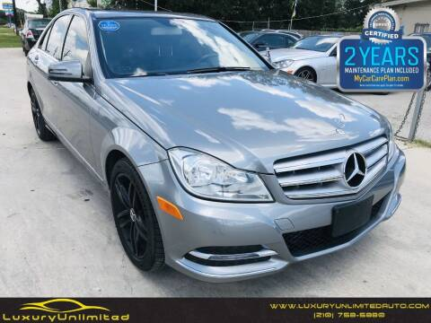2014 Mercedes-Benz C-Class for sale at LUXURY UNLIMITED AUTO SALES in San Antonio TX