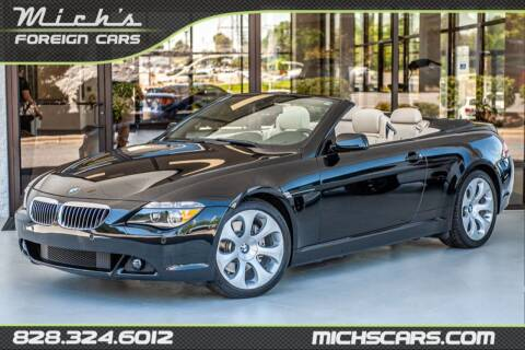 2007 BMW 6 Series for sale at Mich's Foreign Cars in Hickory NC