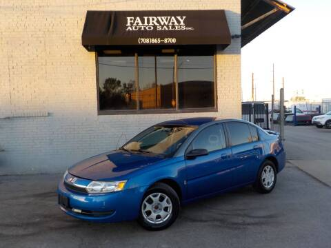 2003 Saturn Ion for sale at FAIRWAY AUTO SALES, INC. in Melrose Park IL