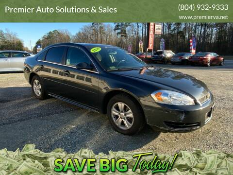 2015 Chevrolet Impala Limited for sale at Premier Auto Solutions & Sales in Quinton VA