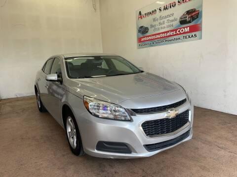 2016 Chevrolet Malibu Limited for sale at Antonio's Auto Sales - Antonio`s  3001 in Pasadena TX