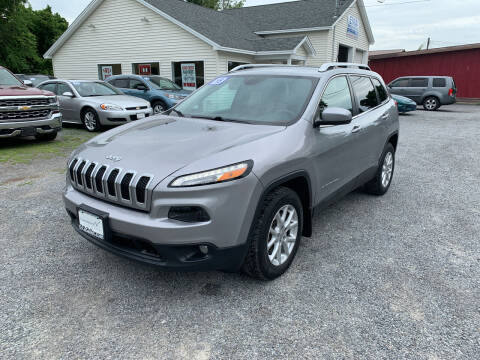 2015 Jeep Cherokee for sale at Evia Auto Sales Inc. in Glens Falls NY