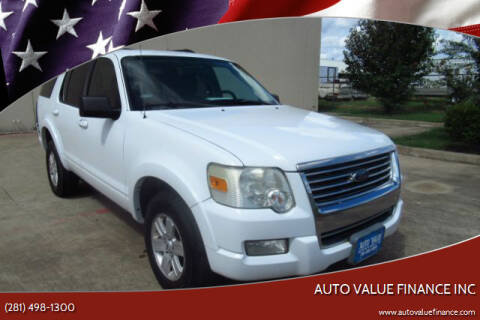 2010 Ford Explorer for sale at AUTO VALUE FINANCE INC in Stafford TX