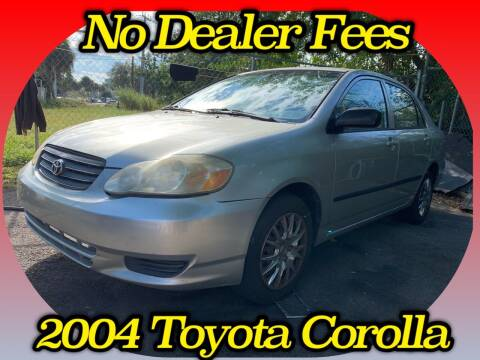 2004 Toyota Corolla for sale at Simply Auto Sales in Palm Beach Gardens FL
