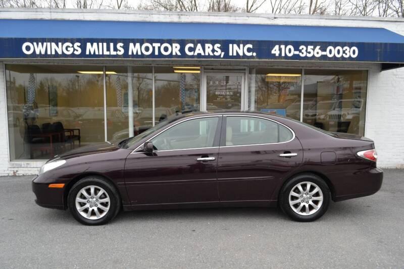 2002 Lexus ES 300 for sale at Owings Mills Motor Cars in Owings Mills MD