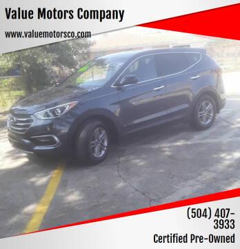 2017 Hyundai Santa Fe Sport for sale at Value Motors Company in Marrero LA