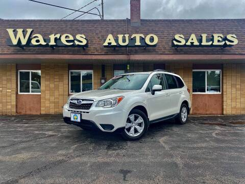 2015 Subaru Forester for sale at Wares Auto Sales INC in Traverse City MI