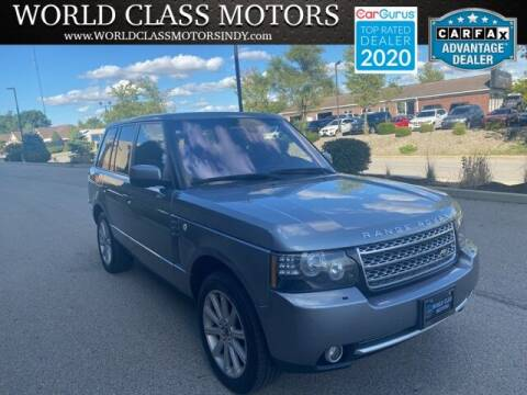 2012 Land Rover Range Rover for sale at World Class Motors LLC in Noblesville IN