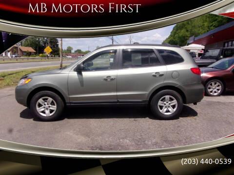 2009 Hyundai Santa Fe for sale at MB Motors First in Meriden CT