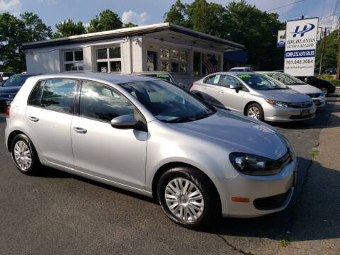 2011 Volkswagen Golf for sale at Highlands Auto Gallery in Braintree MA