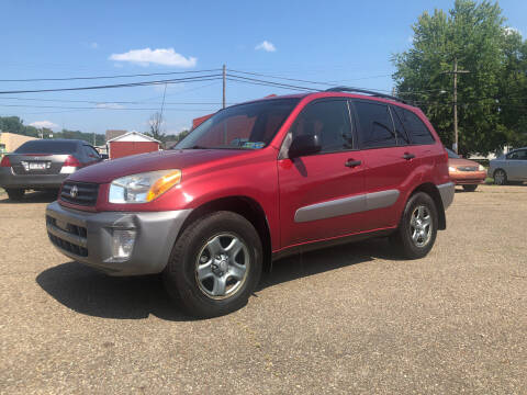 2003 Toyota RAV4 for sale at Jim's Hometown Auto Sales LLC in Byesville OH
