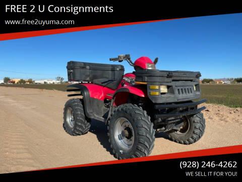 2001 Polaris Sportsman  for sale at FREE 2 U Consignments in Yuma AZ