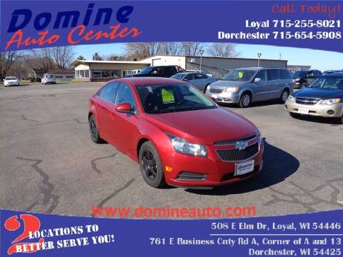 2014 Chevrolet Cruze for sale at Domine Auto Center in Loyal WI