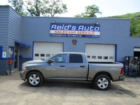 2012 RAM Ram Pickup 1500 for sale at Reid's Auto Sales & Service in Emporium PA