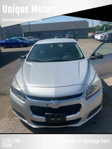 2014 Chevrolet Malibu for sale at Unique Motors in Wichita KS