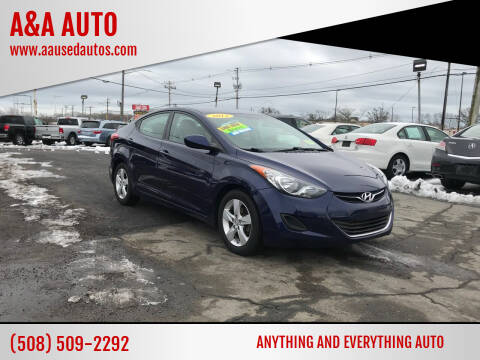 2013 Hyundai Elantra for sale at A&A AUTO in Fairhaven MA