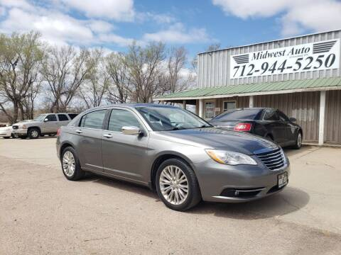 2012 Chrysler 200 for sale at Midwest Auto of Siouxland, INC in Lawton IA