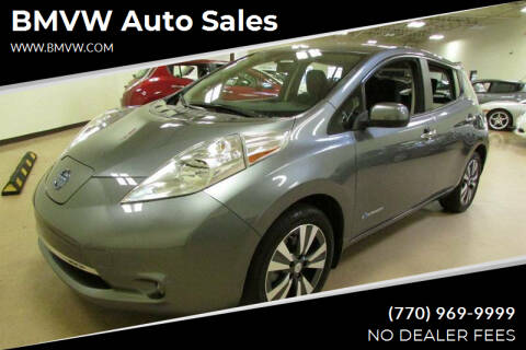 2015 Nissan LEAF for sale at BMVW Auto Sales - Electric Vehicles in Union City GA