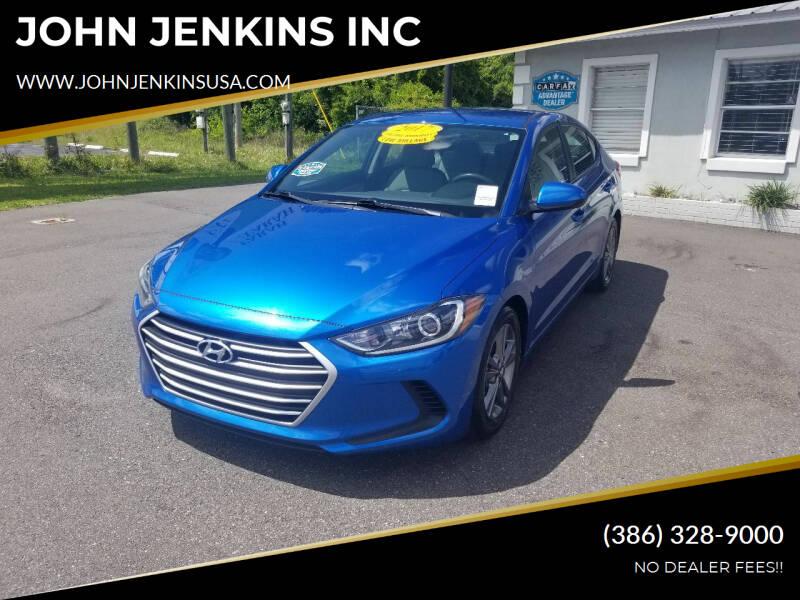 2017 Hyundai Elantra for sale at JOHN JENKINS INC in Palatka FL