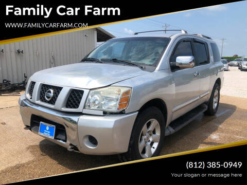 2006 Nissan Armada for sale at Family Car Farm in Princeton IN