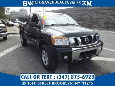 2012 Nissan Titan for sale at Hamilton Avenue Auto Sales in Brooklyn NY