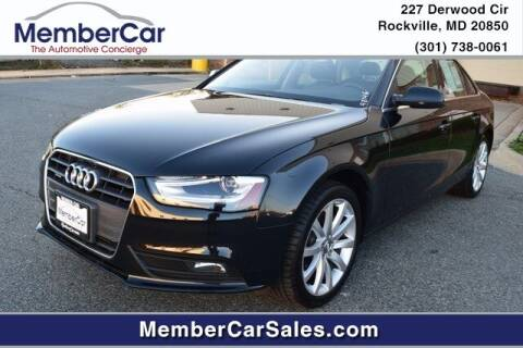 2013 Audi A4 for sale at MemberCar in Rockville MD