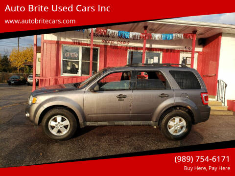 2010 Ford Escape for sale at Auto Brite Used Cars Inc in Saginaw MI
