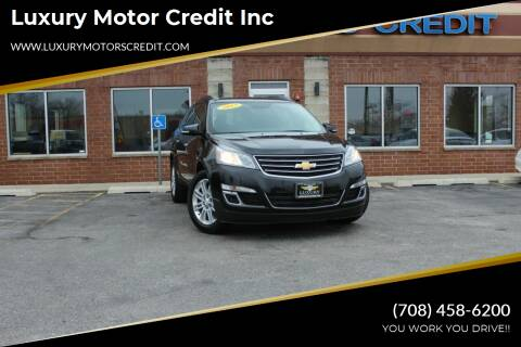 2015 Chevrolet Traverse for sale at Luxury Motors Credit Inc in Bridgeview IL