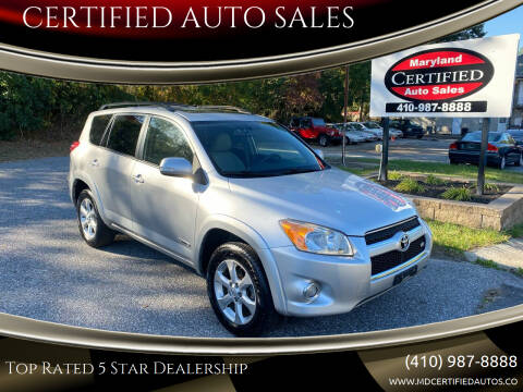 2009 Toyota RAV4 for sale at CERTIFIED AUTO SALES in Severn MD