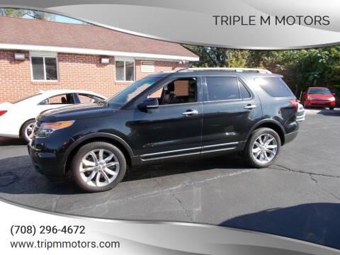 2013 Ford Explorer for sale at Triple M Motors in Saint John IN