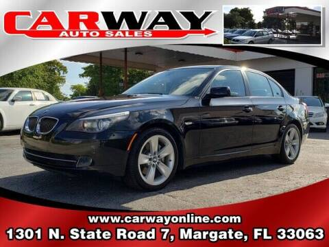 2008 BMW 5 Series for sale at CARWAY Auto Sales in Margate FL
