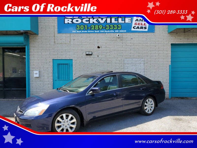 2006 Honda Accord for sale at Cars Of Rockville in Rockville MD
