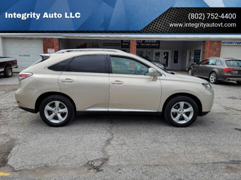 2013 Lexus RX 350 for sale at Integrity Auto LLC - Integrity Auto 2.0 in St. Albans VT