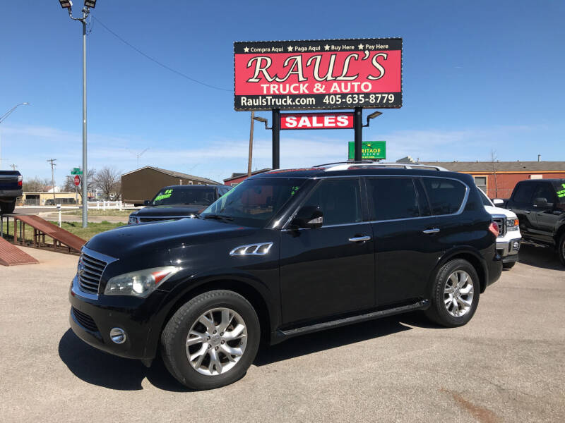 2013 Infiniti QX56 for sale at RAUL'S TRUCK & AUTO SALES, INC in Oklahoma City OK