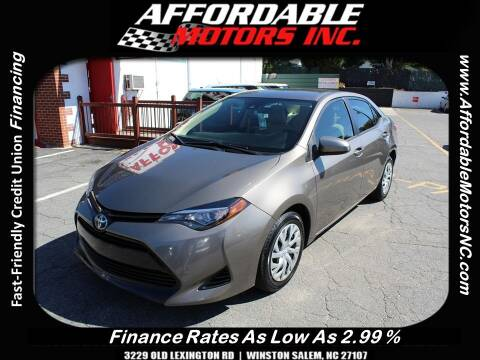 2017 Toyota Corolla for sale at AFFORDABLE MOTORS INC in Winston Salem NC