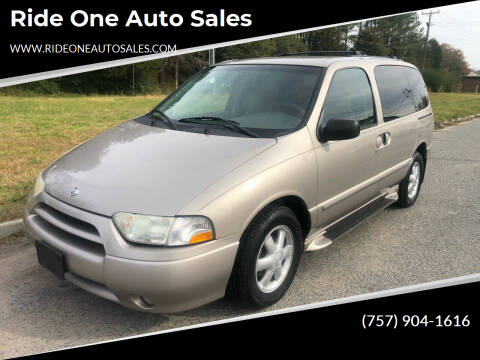 2002 Nissan Quest for sale at Ride One Auto Sales in Norfolk VA
